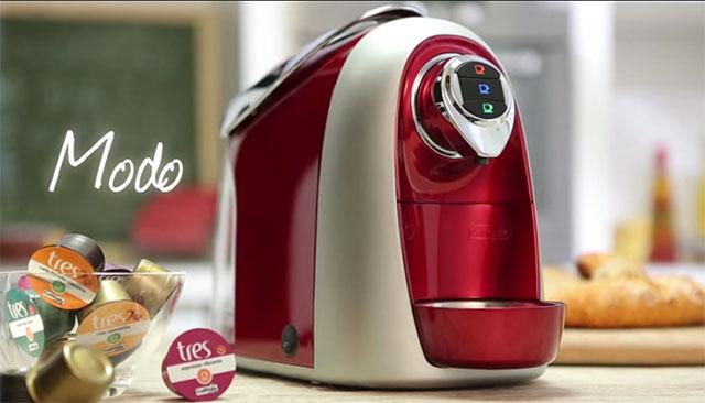 Modelo da máquina de café sorteada para os três hoteleiros que fizeram a votação